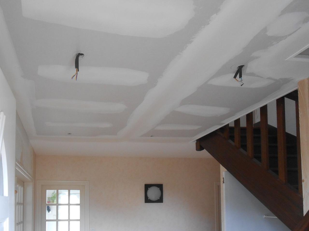 Pose de plafond