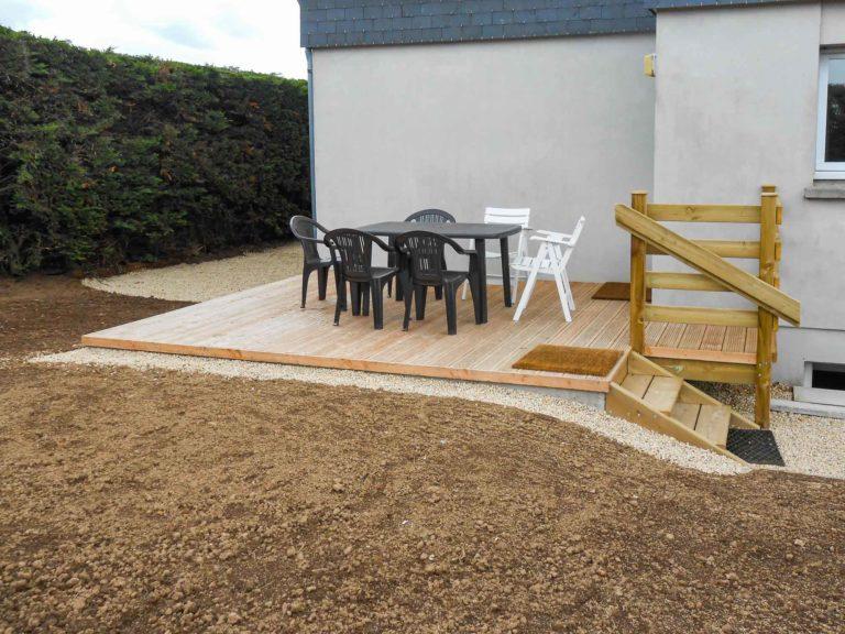 Terrasse sur mesure bois traité classe 4