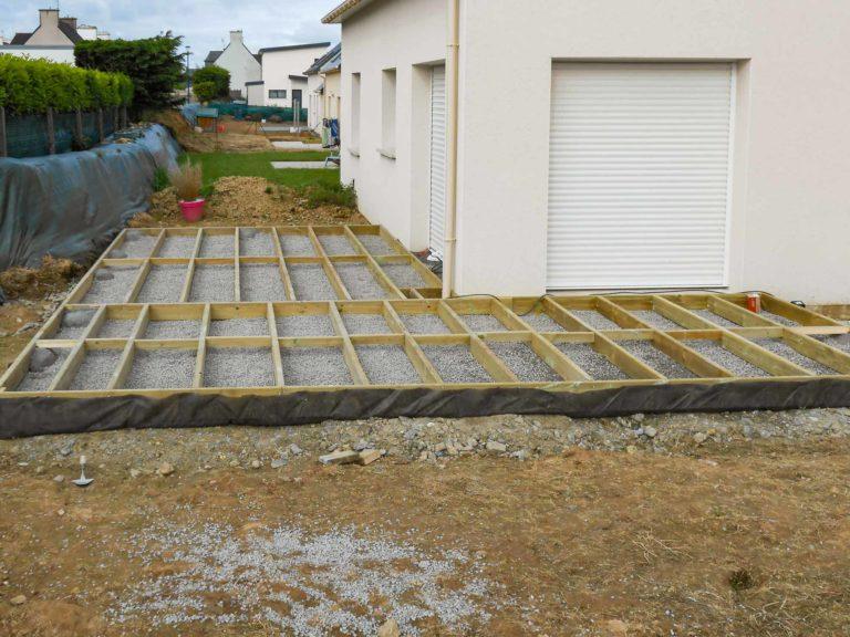 Fondations d'une terrasse sur mesure